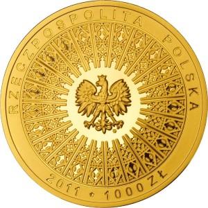 Awers Beatyfikacja Jana Pawła II - 1 V 2011 - 1000zł