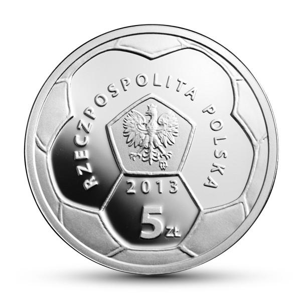 Polskie Kluby Piłkarskie - Warta Poznań, 5zł awers