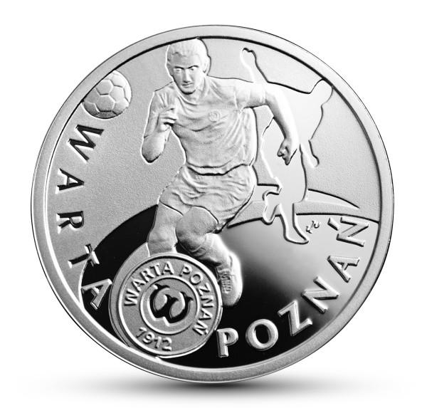 Polskie Kluby Piłkarskie - Warta Poznań, 5zł rewers
